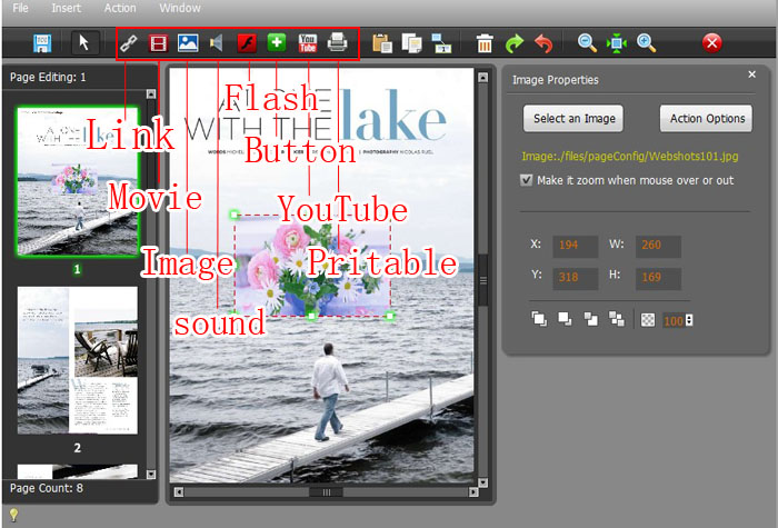 Use Page Editor of Flash to Page Flip Software to Create Colorful Paper Vision eBook