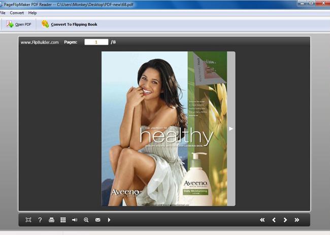 Free PageFlipMaker PDF Reader screenshot