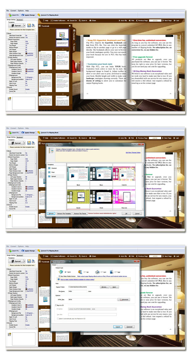 Windows 7 PCL to Flash Page Flip 2.6 full