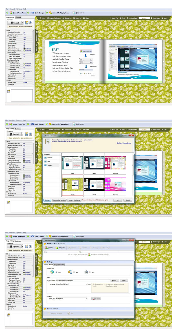 PPT to Flash Page Flip