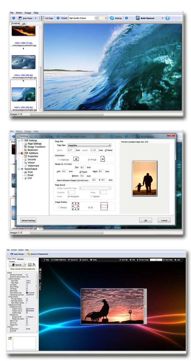 Windows 7 Scan to Flash Page Flip 2.6 full