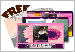 Flash Flip Book Templates of Pink Flower Style