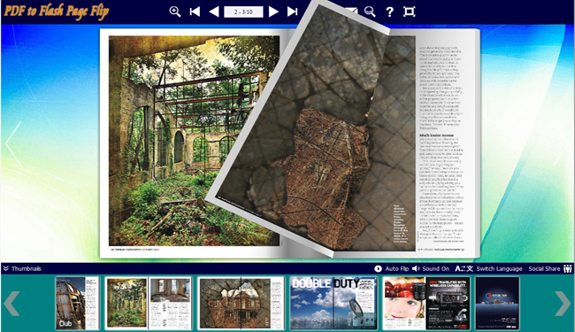 Concise Background Theme for Flash Book