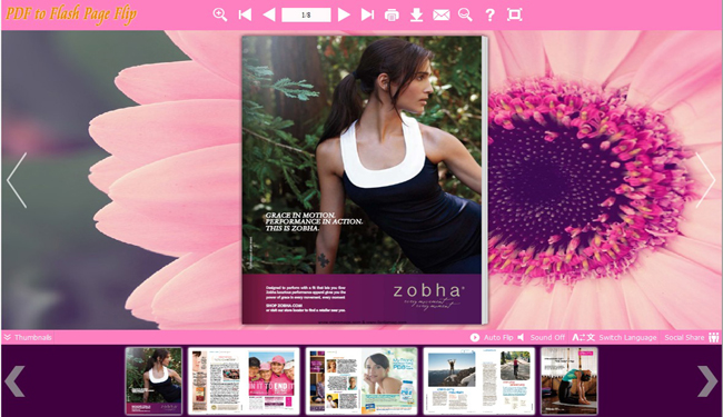 Flash Flip Album with Pink Flower Theme