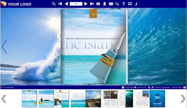 Flash Flip Book Templates of Sea Theme 1.0 full